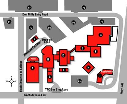 Seneca Newnham Campus Map Seneca College Newnham Campus   Toronto Ontario Canada